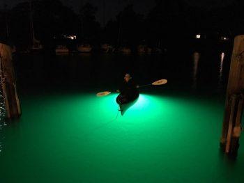 High intensity Underwater Kayak Fishing Light